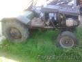 Самодельный маленький трактор с прицепом б/у