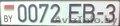 госномер 0072 EB-3