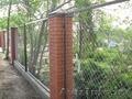 Секции заборные,  с сеткой или металлическими прутьями