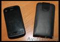 Кожаный черный чехол-книжка для ZTE V790. Б/у месяц,  в отличном состоянии.