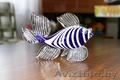 Рыбка из синего стекла. 20 рублей. Состояние отличное.